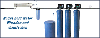 House hold water Filtration and  disinfection